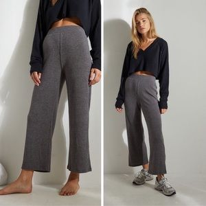 Urban Outfitters Gray Ribbed Crop Culottes Pants
